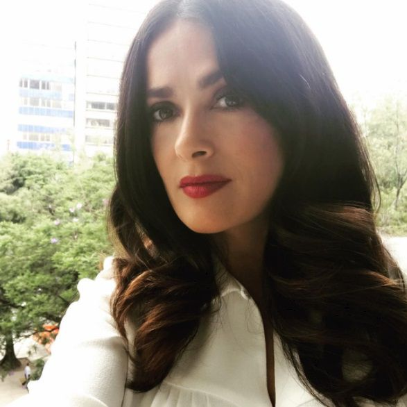 Salma Hayek 2017 Instagram Pic in Mexico