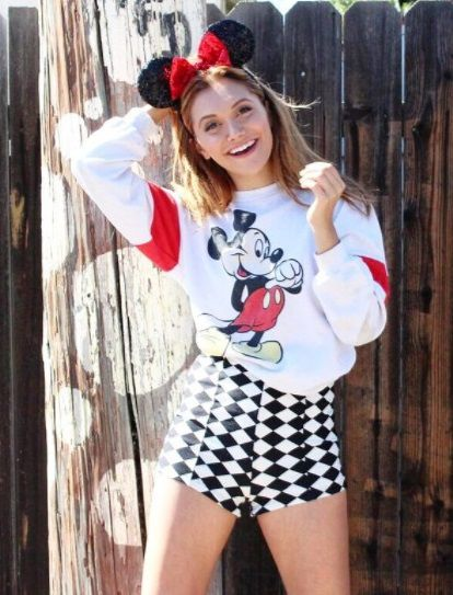 Alyson Stoner 2016 Mickey Mouse Costume