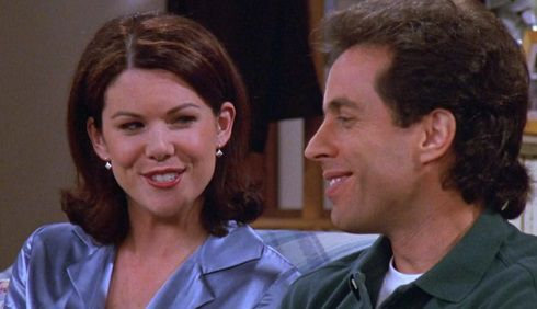 Lauren Graham 1997 with Jerry Seinfeld