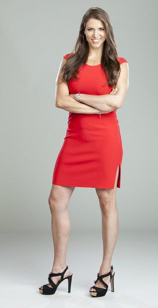 Stephanie Mcmahon 2014 Sexy Red Dress